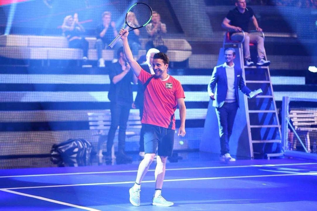 Kostja Ullmann im Tennis-Match - Bildquelle: ProSieben/Jens Hartmann