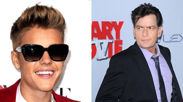 Top: Justin Bieber +++Flop: Charlie Sheen - Bildquelle: AFP/WENN.com