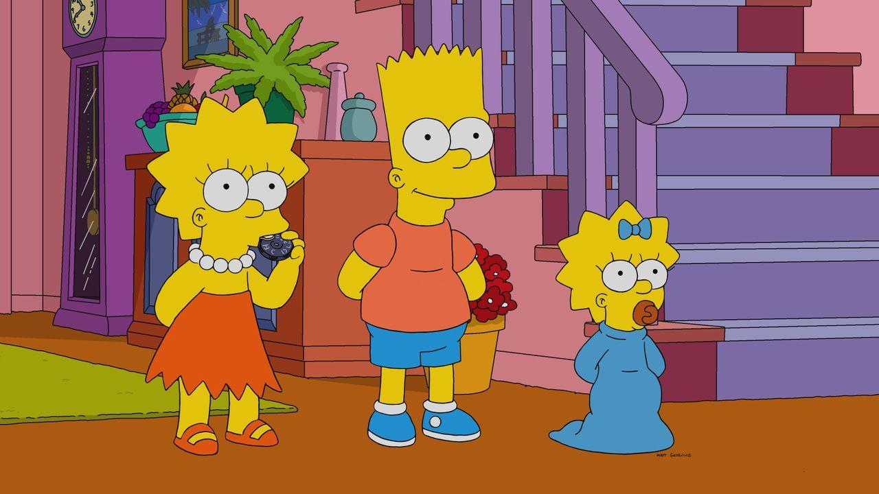 (v.l.n.r.) Lisa; Bart; Maggie - Bildquelle: 2020 by Twentieth Century Fox Film Corporation.