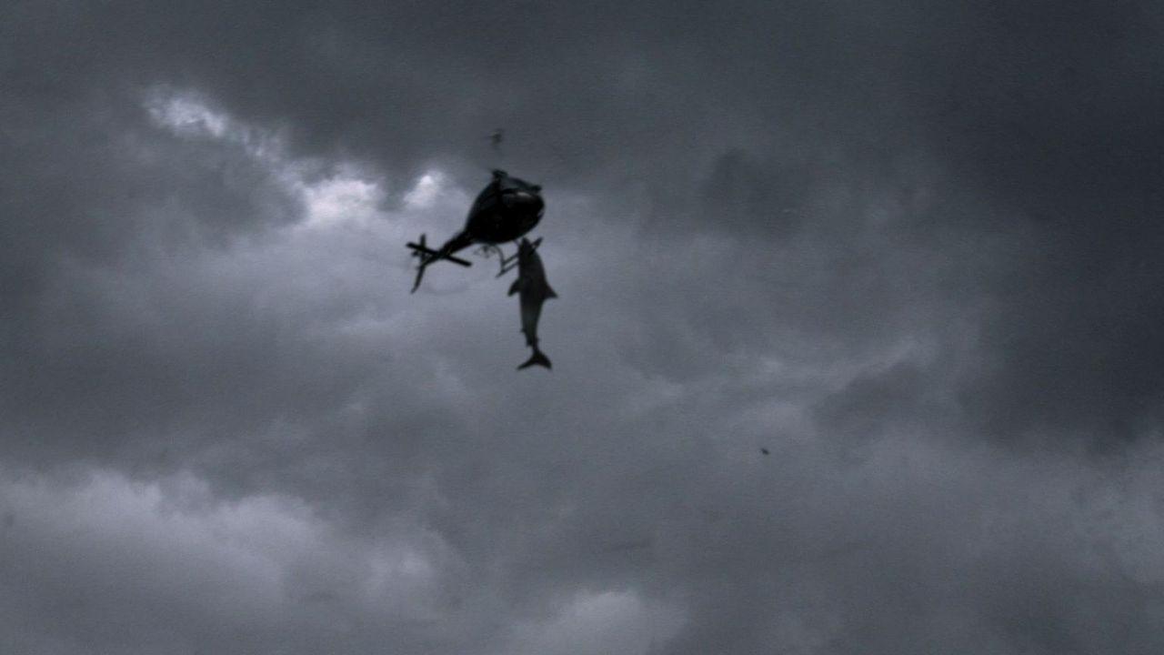 Die Haie machen dem Hubschrauber Konkurrenz ... - Bildquelle: 2013, THE GLOBAL ASYLUM INC.  ALL RIGHTS RESERVED.
