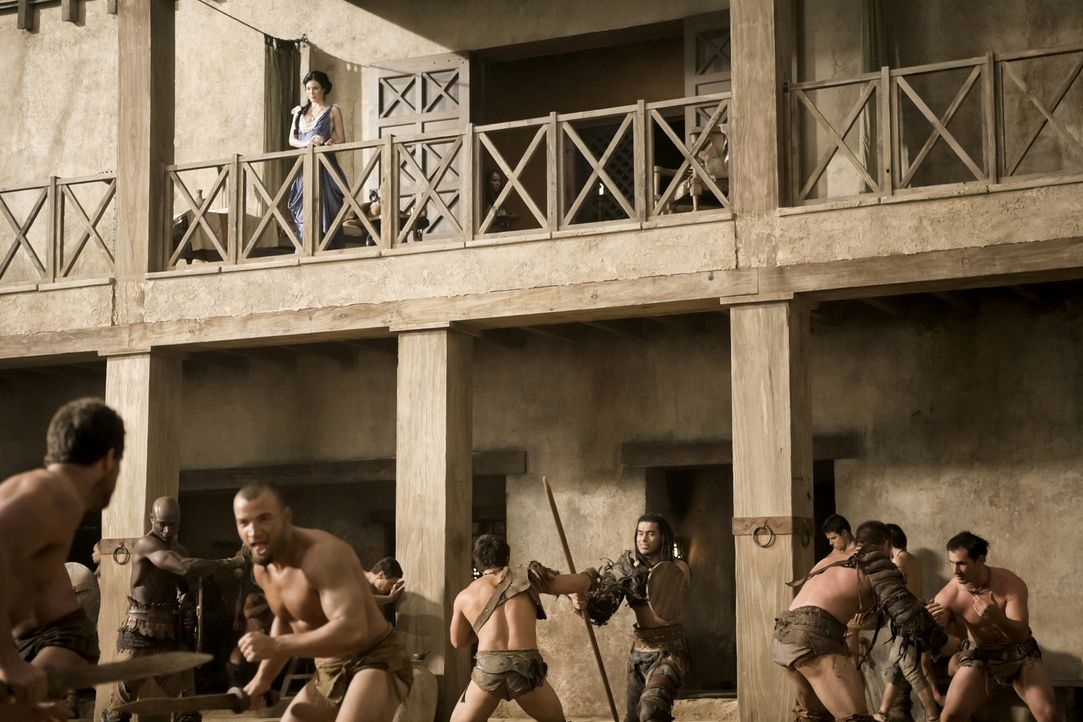 Training der Gladiatoren ... - Bildquelle: 2010 Starz Entertainment, LLC
