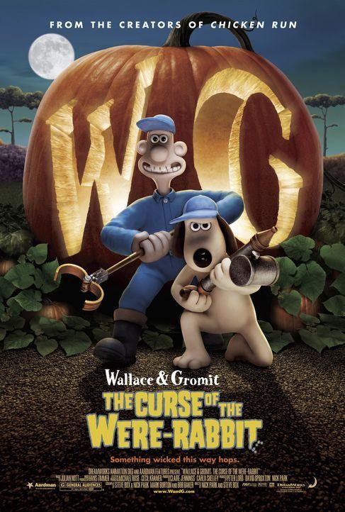 """""""Wallace & Gromit auf der Jagd nach dem Riesenkaninchen"""" - Plakatmotiv - Bildquelle: Telepool GmbH"""