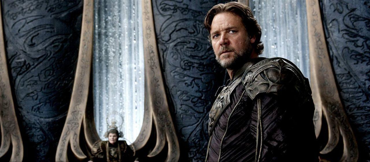 Gespenst der anderen Art: Damit er seinem Sohn auch nach dem Untergang Kryptons noch beistehen kann, generiert Jor-El (Russell Crowe) einen Datengei... - Bildquelle: 2013 Warner Brothers