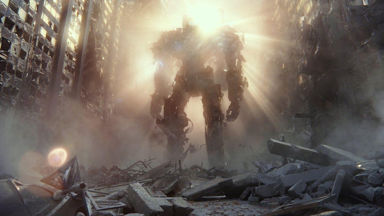 Die riesigen Jaeger sind humanoide Kampfroboter und werden von immer zwei Piloten gesteuert, die im Kopf des Roboters sitzen. Die Bewegungen der Pil... - Bildquelle: 2013 Warner Bros. Entertainment Inc. and Legendary Pictures Funding, LLC