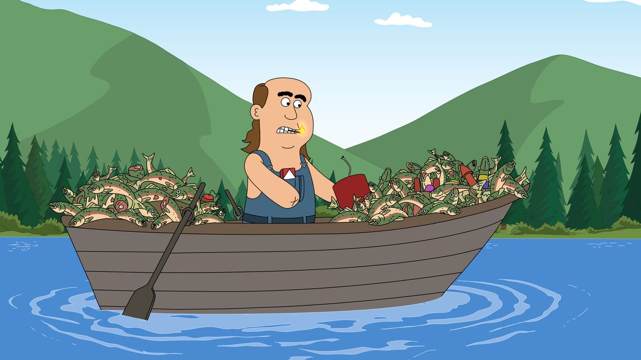 Woody beobachtet, wie Raketen-Jim (Bild) nach einer Explosion unverletzt aus dem Brickleberry-See auftaucht. Er vermutet, dass der See wundersame He... - Bildquelle: 2013 Twentieth Century Fox Film Corporation and Comedy Partners. All rights reserved.