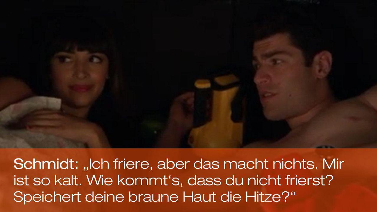 New Girl - Zitate - Staffel 1 Folge 18 - Cece (Hannah Simone) und Schmidt (Max Greenfield) 1600 x 900 - Bildquelle: 20th Century Fox