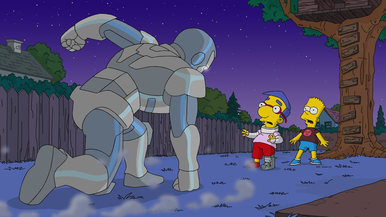Milhouse (l.); Bart (r.) - Bildquelle: 2019-2020 Twentieth Century Fox Film Corporation.  All rights reserved.