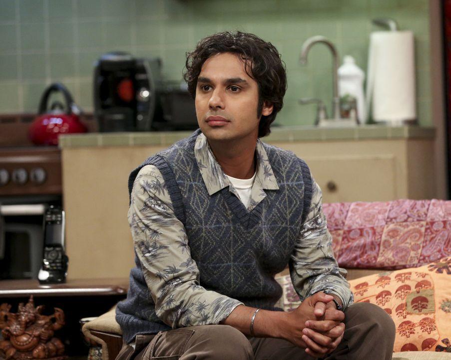 Raj (Kunal Nayyar) reklamiert einen neuen Himmelskörper für sich, obwohl er gar nicht der Entdecker war ... - Bildquelle: Warner Bros. Television