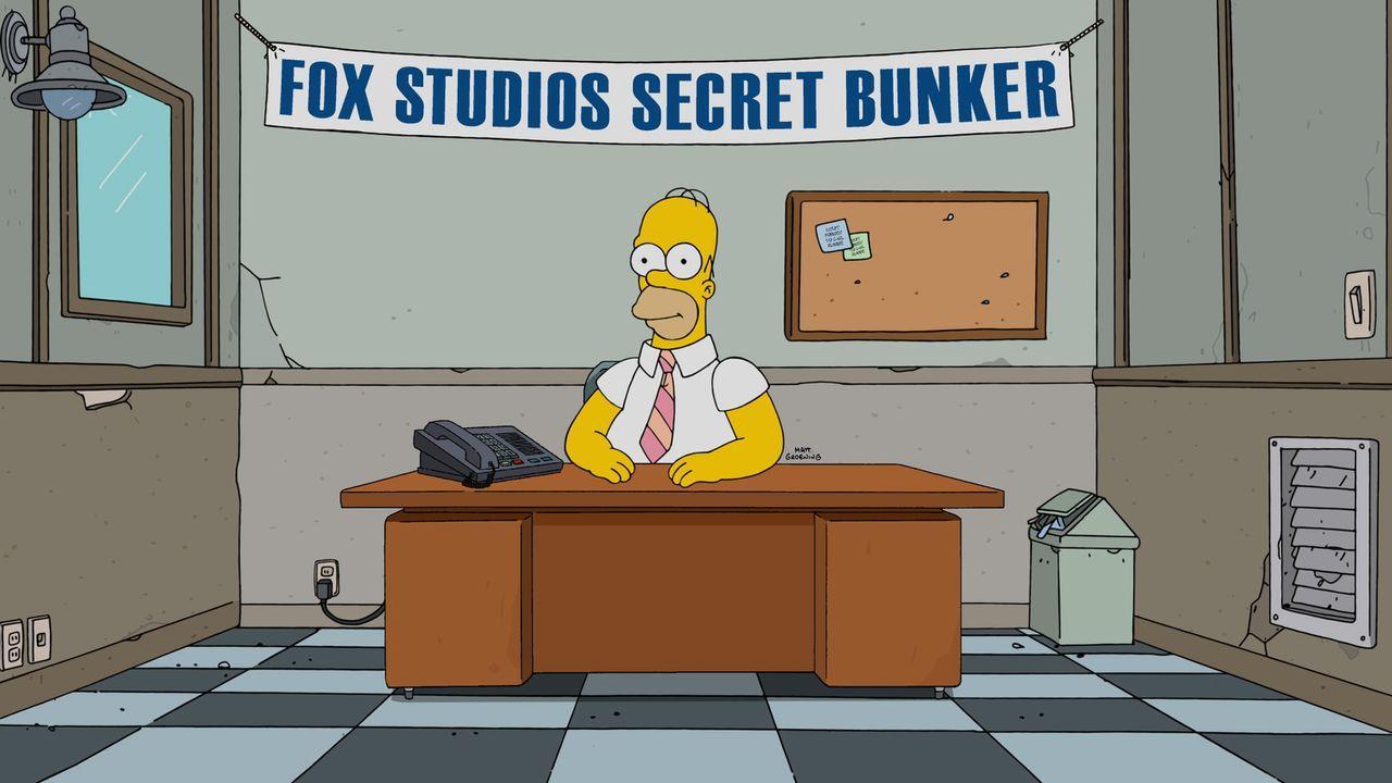 Homer hat es geschafft. Er darf live die Ereignisse des Tages kommentieren ... - Bildquelle: 2015 Fox and its related entities.  All rights reserved.