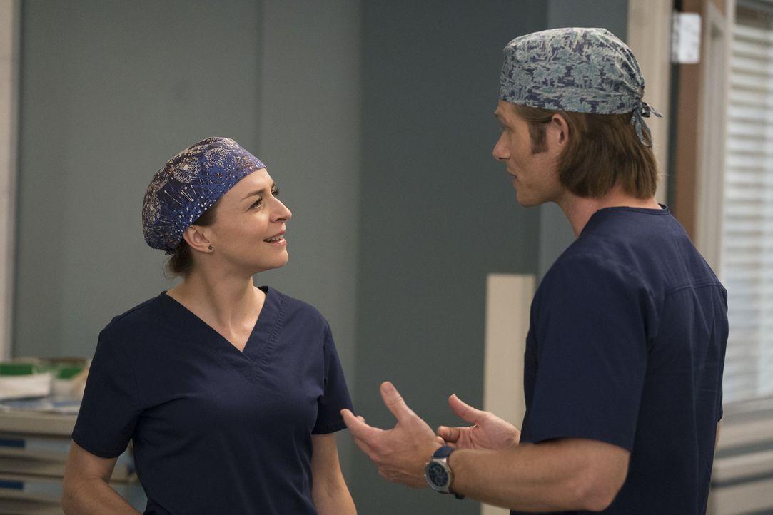 Dr. Amelia Shepherd (Caterina Scorsone, l.); Dr. Atticus Lincoln (Chris Carmack, r.) - Bildquelle: Mitch Haaseth ABC Studios/Mitch Haaseth