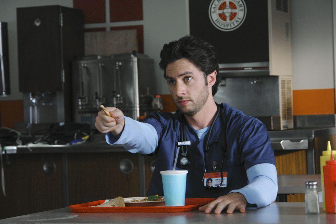 J.D.s (Zach Braff) letzter Tag im Sacred Heart Krankenhaus ist angebrochen. Er hat einen neuen Job angenommen, um in der Nähe von seinem Sohn zu se... - Bildquelle: Touchstone Television