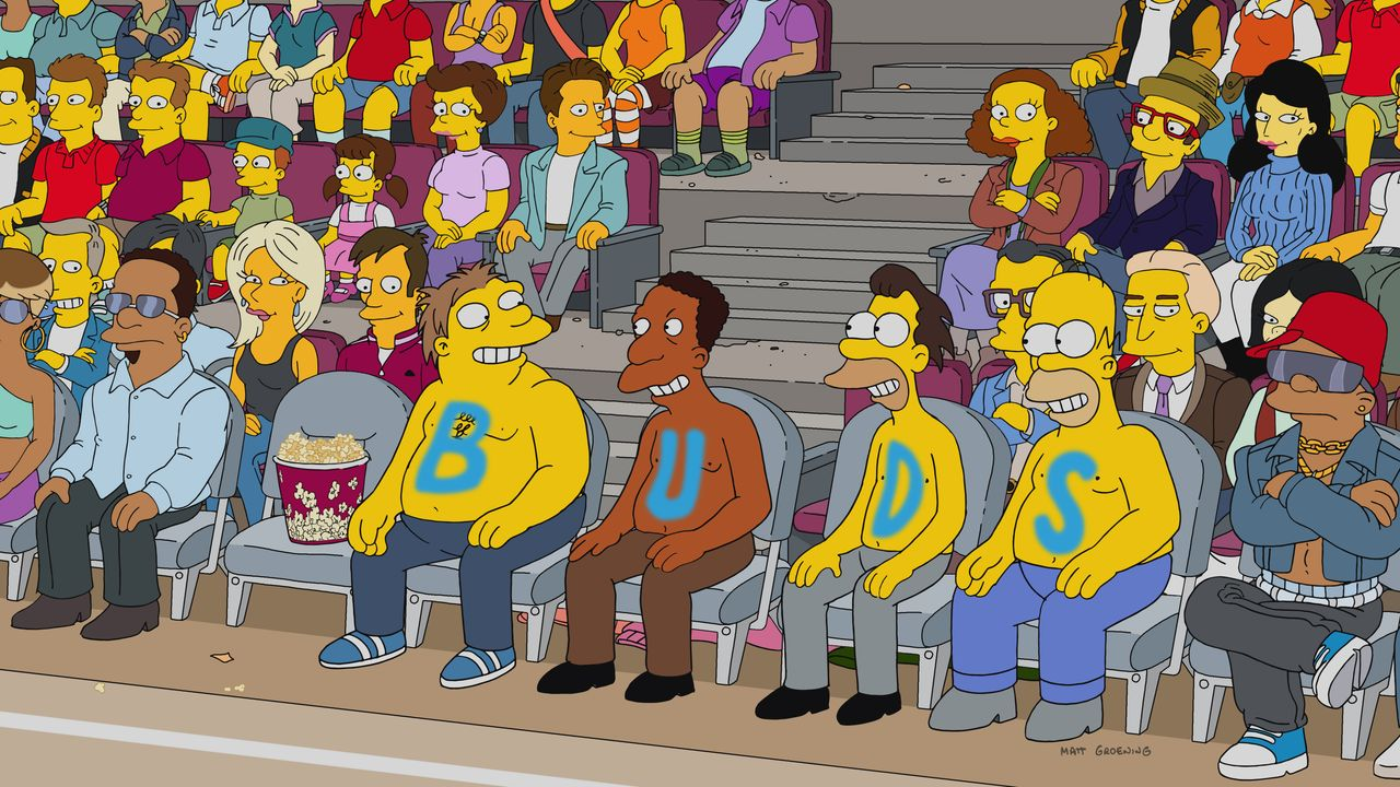 Noch ahnen (v.l.n.r.) Barney, Carl, Lenny und Homer nicht, dass ihr Coach sich möglicherweise auf eine perfide Wette einlassen wird ... - Bildquelle: 2017-2018 Fox and its related entities.  All rights reserved.