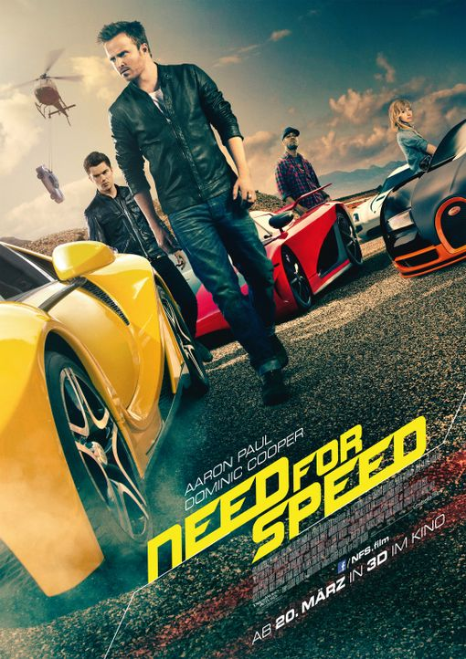 Need for Speed - Plakat - Bildquelle: 2014 Constantin Film Verleih GmbH.