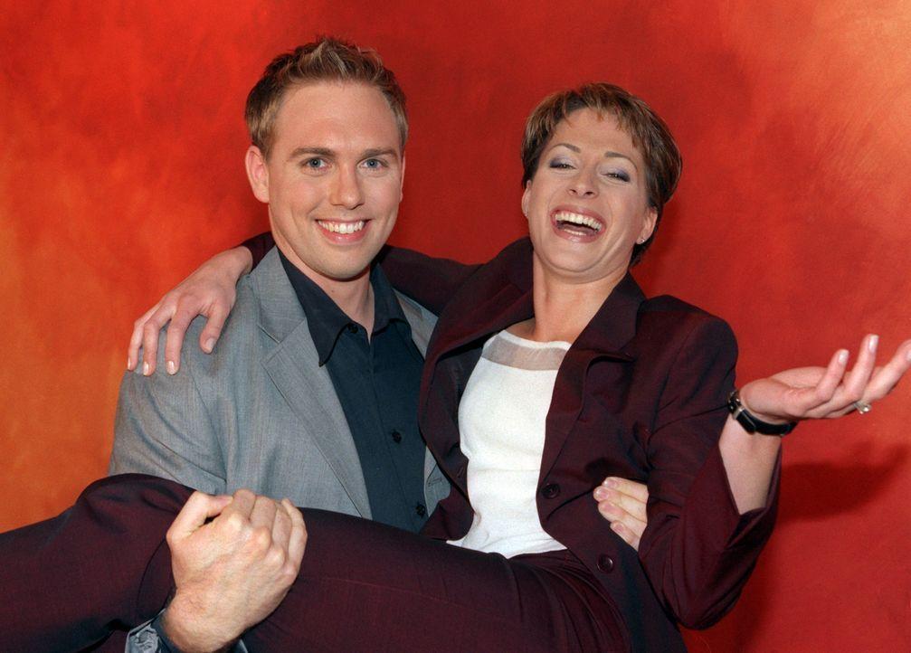 taff-Moderatoren Steven Gätjen und Britta Sander (1999) - Bildquelle: dpa