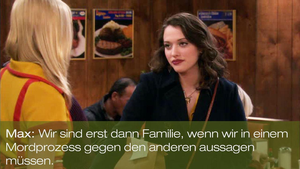 zitat-quote-spruch-2-broke-girls-episode-17-ehrenjuedin-max-black-kat-dennings-familie-warnerpng 1600 x 900 - Bildquelle: Warner Brothers Entertainment Inc.