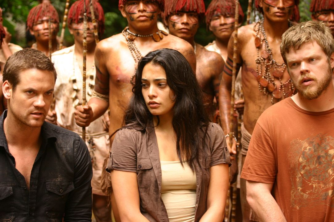 Fallen Indios in die Hände - droht ihnen jetzt der Tod? Jack (Shane West, l.), Gordon (Elden Henson, r.) und Maria (Natalie Martinez, M.) ...