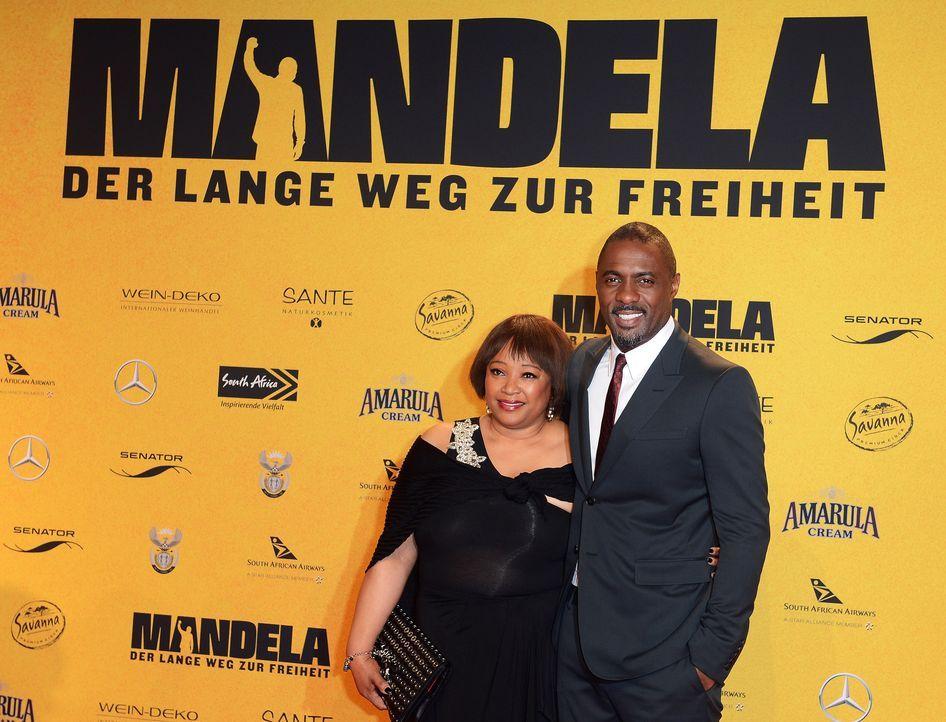 Premiere-Mandela-Zindzi-Mandela-Idris-Elba-14-01-28-dpa - Bildquelle: dpa