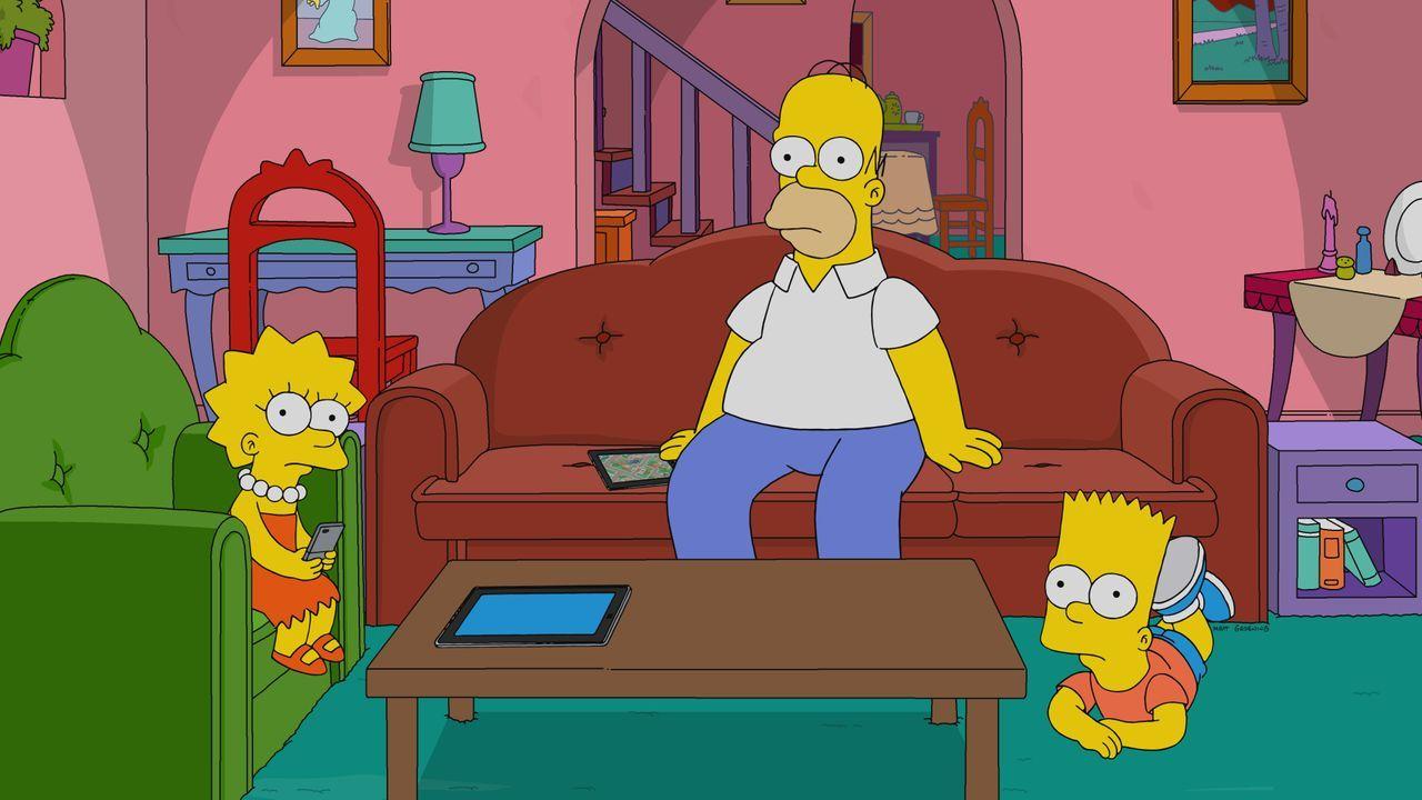 (v.l.n.r.) Lisa; Homer; Bart - Bildquelle: 2019-2020 Twentieth Century Fox Film Corporation.  All rights reserved.