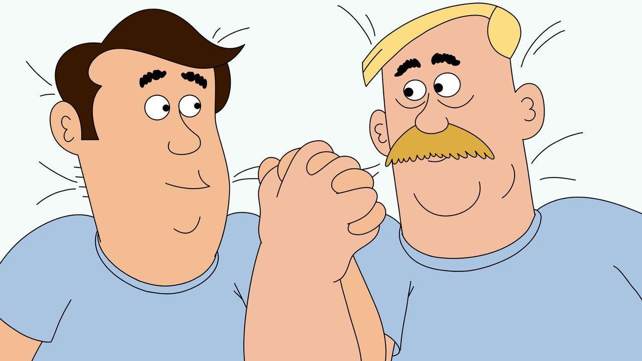 Langsam scheint sich Woody (r.) daran zu gewöhnen, dass er mit Steve (l.) zusammengenäht wurde ... - Bildquelle: 2014 Twentieth Century Fox Film Corporation and Comedy Partners.  All rights reserved.