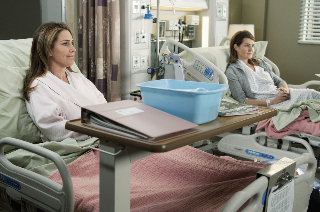 Richard nimmt seine 10.000. Operation an zwei streitenden Schwestern (Nia Vardalos, r. und Peri Gilpin, l.) vor, die wegen einer Lebertransplantatio... - Bildquelle: ABC Studios