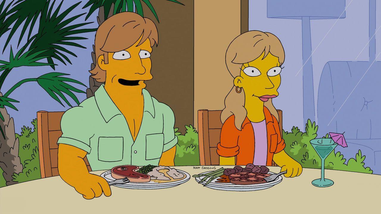Homer und Marge machen sich auf die Suche nach einem Paar, das bereit ist, die Vormundschaft für ihre Kinder zu übernehmen, falls ihnen etwas zustoß... - Bildquelle: und TM Twentieth Century Fox Film Corporation - Alle Rechte vorbehalten