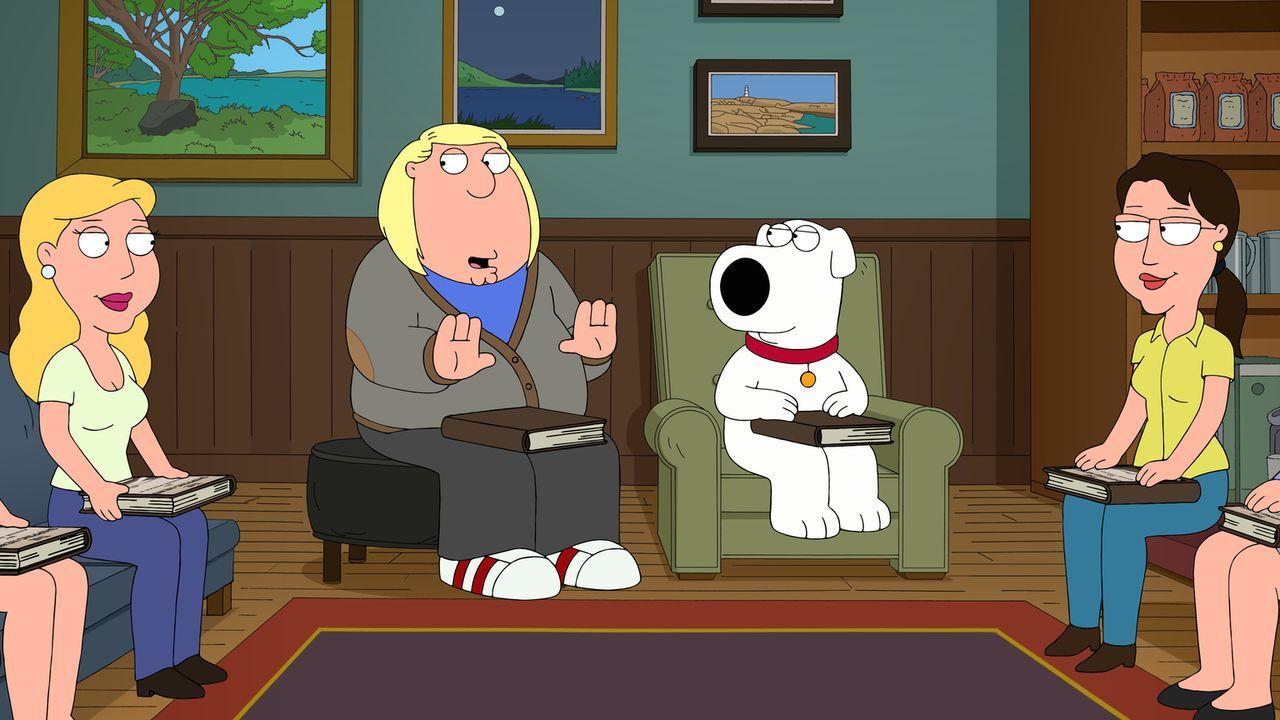 Peter setzt den intellektuellen Brian (2.v.r.) darauf an, seinen Sohn Chris (2.v.l.) ein wenig zu erziehen. Und schon bald trägt dies auch Früchte.... - Bildquelle: 2015-2016 Fox and its related entities. All rights reserved.