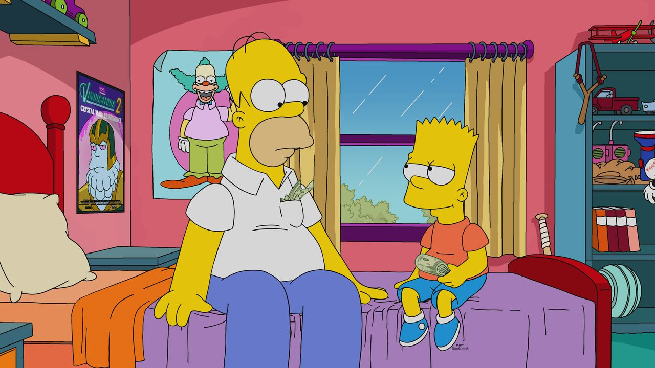 Homer (l.); Bart (r.) - Bildquelle: 2021 by 20th Television.