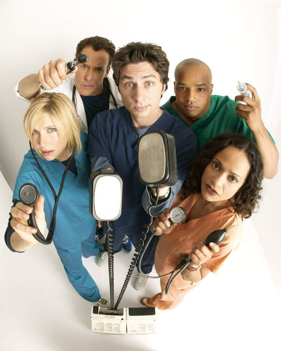 (4. Staffel) - Täglich fordert der Krankenhaus-Alltag den totalen Einsatz von den Halbgötter in Weiß: Dr. Phil Cox (John C. McGingley, 2.v.l.), Elli... - Bildquelle: Touchstone Television