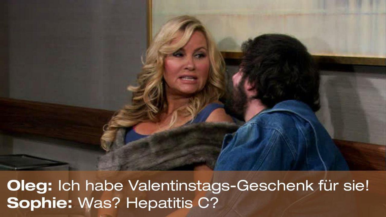 zitat-quote-spruch-2-broke-girls-episode-16-gebrochene-herzen-sophie-oleg-hepatitis-foxpng 1600 x 900 - Bildquelle: Warner Brothers Entertainment Inc.