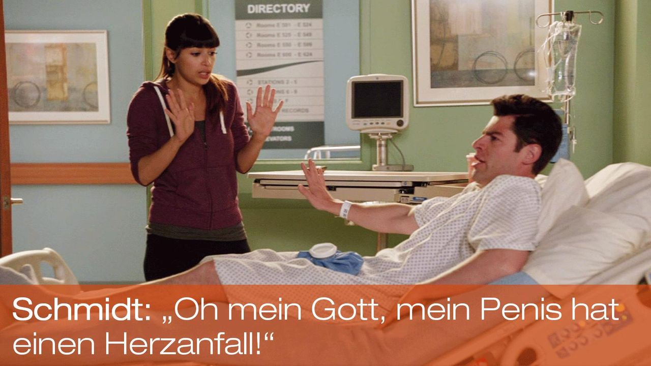 New Girl - Zitate - Staffel 1 Folge 22 - Cece (Hannah Simone), Schmidt (Max Greenfield) - Bildquelle: 20th Century Fox