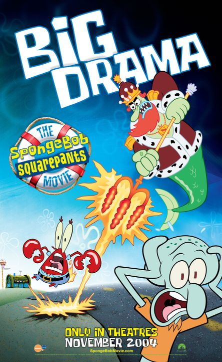 SPONGEBOB SCHWAMMKOPF - FILM, DER - Plakatmotiv - Bildquelle: Copyright   2004 PARAMOUNT PICTURES and VIACOM INTERNATIONAL INC. All Rights Reserved. NICKELODEON, SPONGEBOB SQUAREPANTS and all related titles, logo