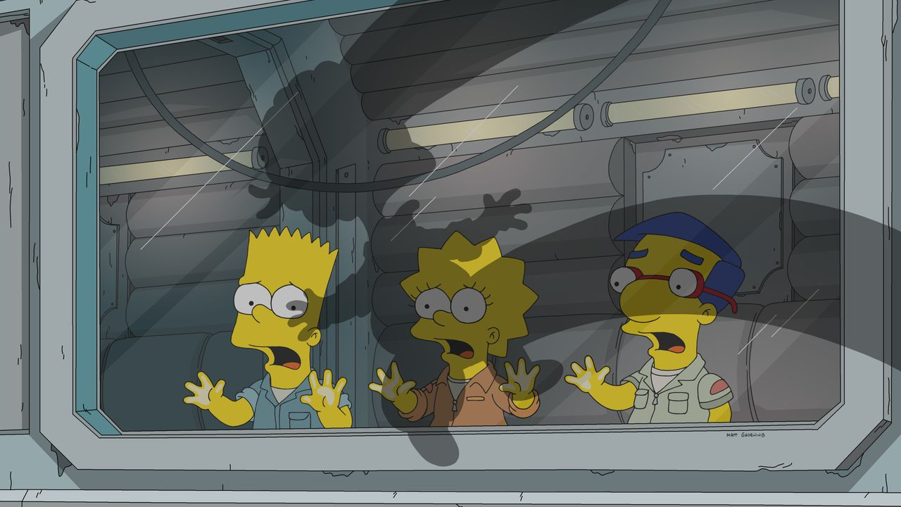(v.l.n.r.) Bart; Lisa; Milhouse - Bildquelle: 2019-2020 Twentieth Century Fox Film Corporation.  All rights reserved.