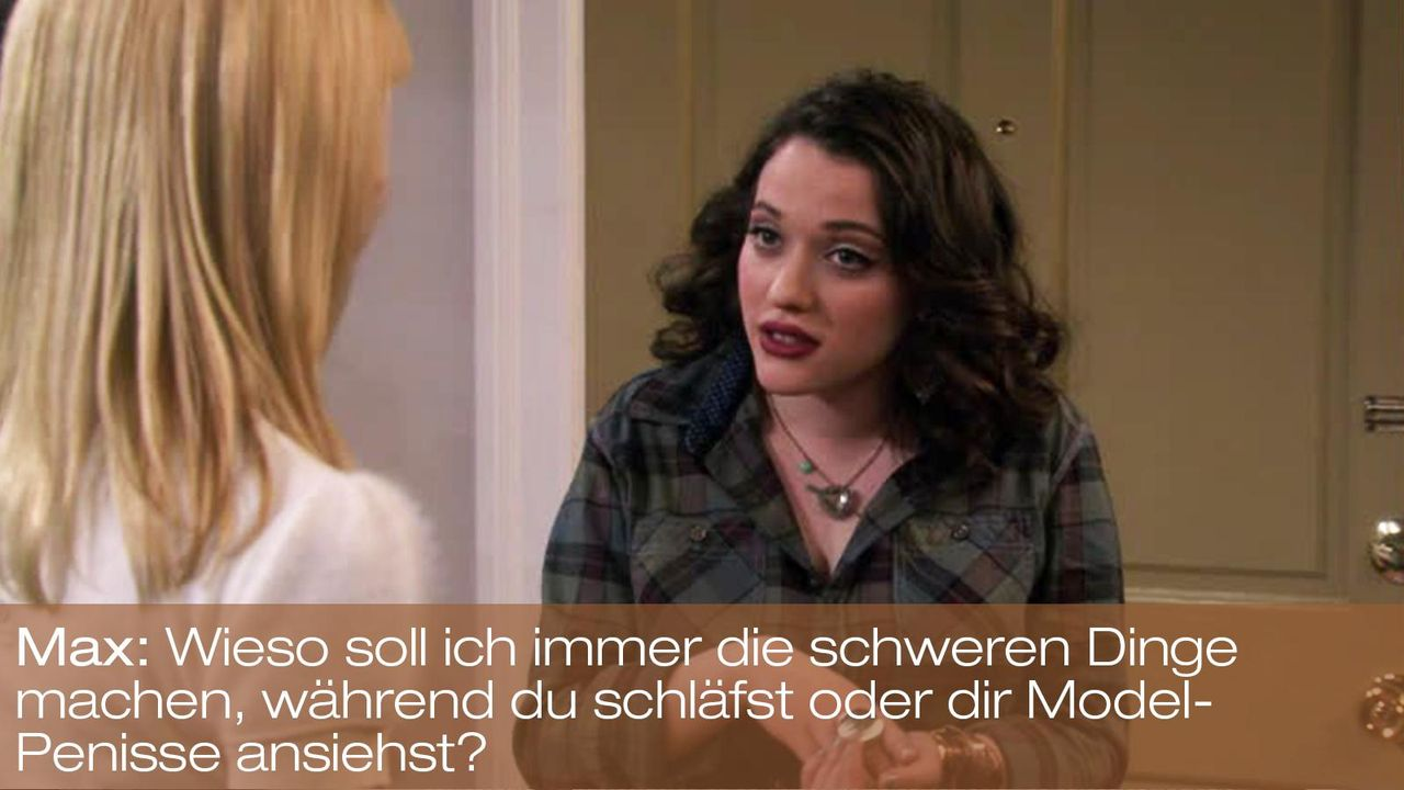 2-broke-girls-zitat-episode-15-staffel-1-blinde-fleck-max-kat-dennings-model-penisse-bild-warnerpng 1600 x 900 - Bildquelle: Warner Brothers Entertainment Inc.