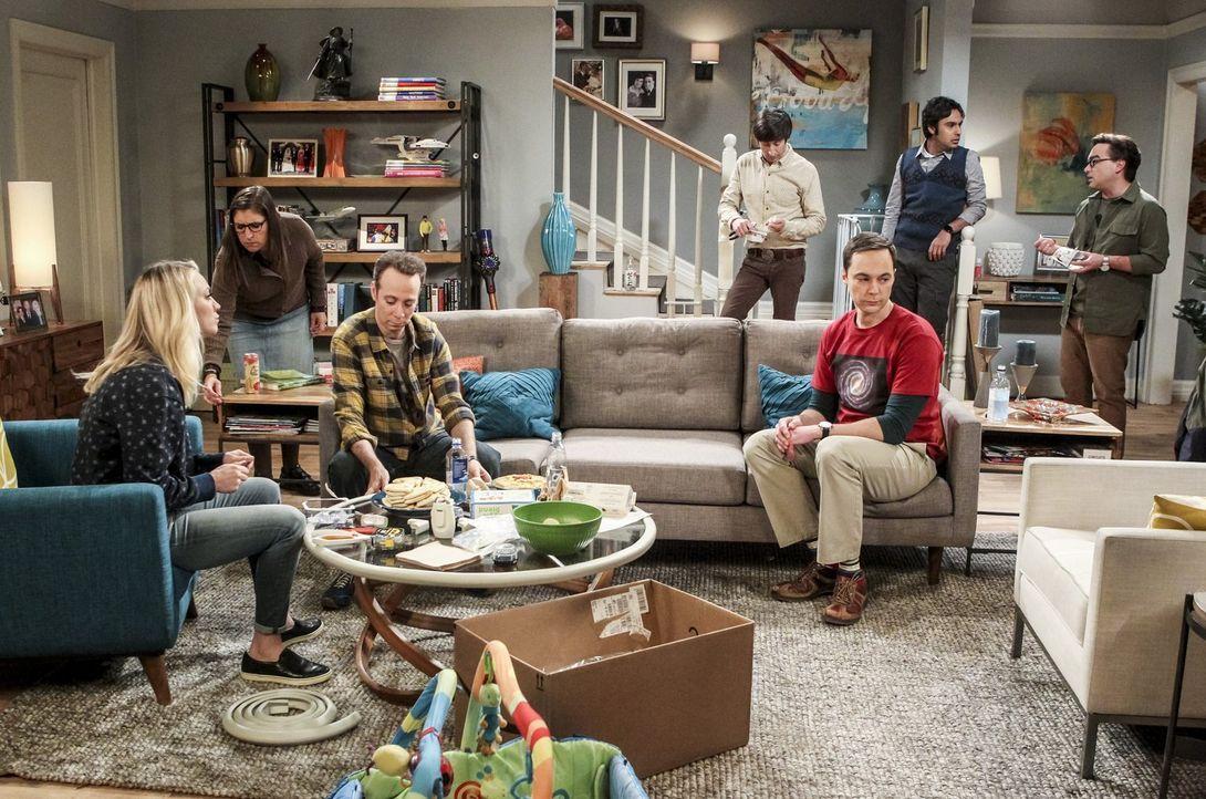 Auf der Suche nach den perfekten Trauzeugen müssen sich Amy (Mayim Bialik, 2.v.l.) und Sheldon (Jim Parsons, 3.v.r.) schließlich fragen, ob überhaup... - Bildquelle: Warner Bros. Television