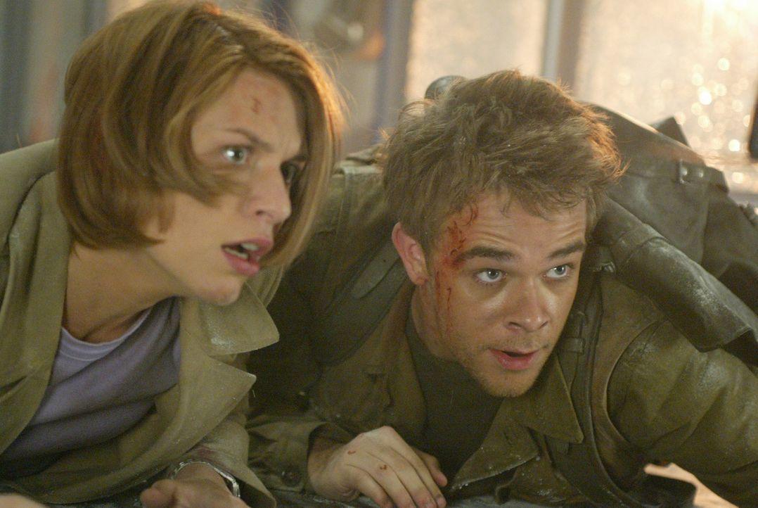 """Connor (Nick Stahl, r.) und Kate (Claire Danes, l.) erkennen, dass der """"Tag der Abrechung"""" längst angebrochen ist - das Ende der Welt ist nur wenig... - Bildquelle: 2004 Sony Pictures Television International. All Rights Reserved."""