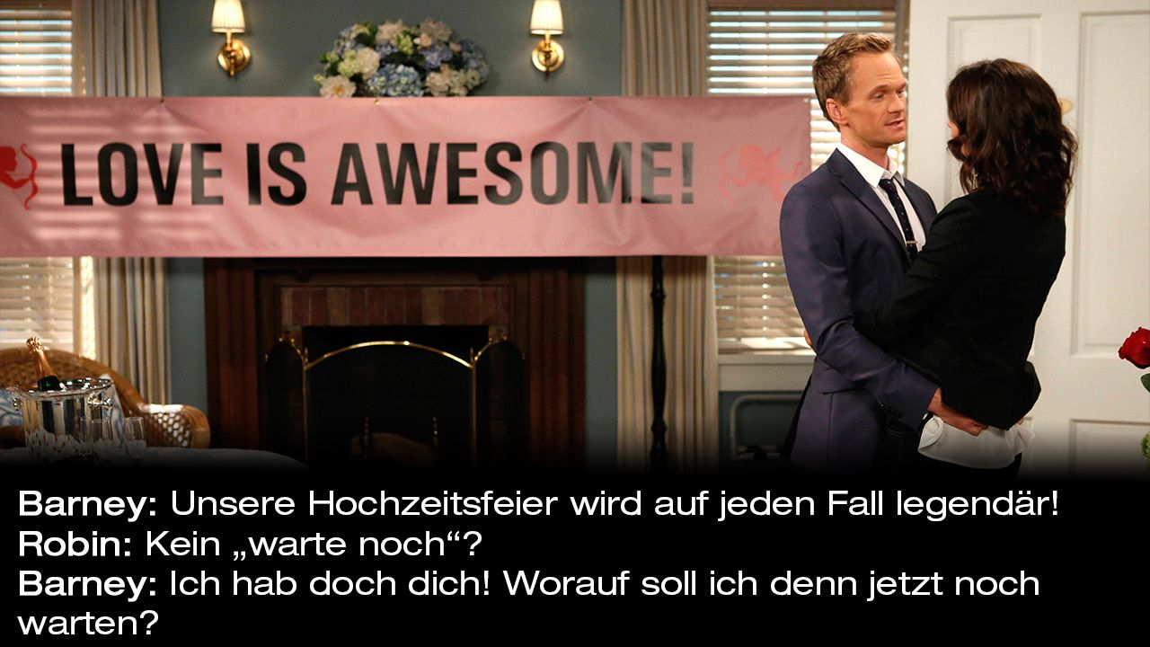 How-I-Met-Your-Mother-Zitate-Staffel-9-5-Barney-Warte-Noch - Bildquelle: 20th Century Fox Film Corporation all rights reserved.