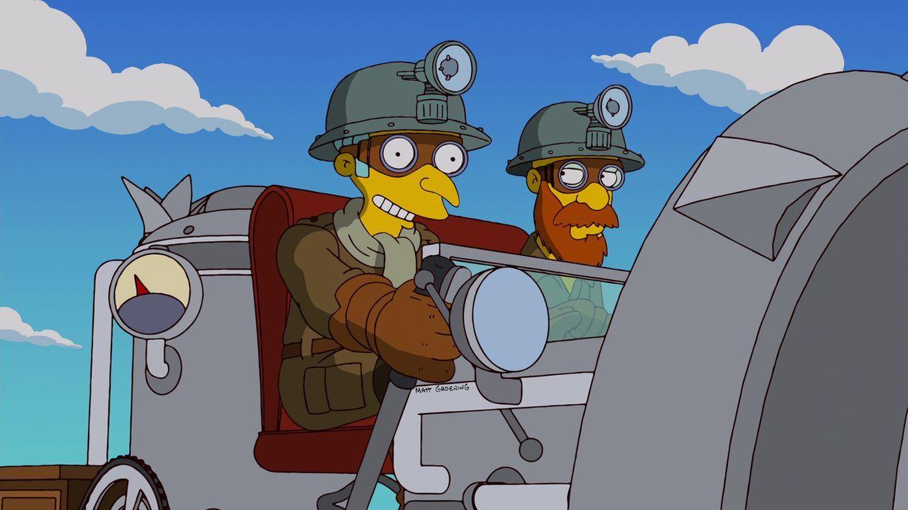 Was ist nur mit Mr. Burns (l.) los? - Bildquelle: und TM Twentieth Century Fox Film Corporation - Alle Rechte vorbehalten