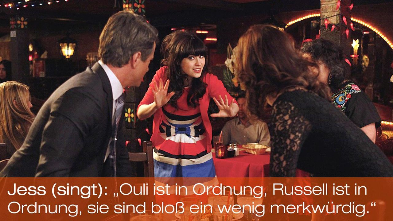New Girl - Zitate - Staffel 1 Folge 22 - Jess (Zooey Deschanel) - Bildquelle: 20th Century Fox