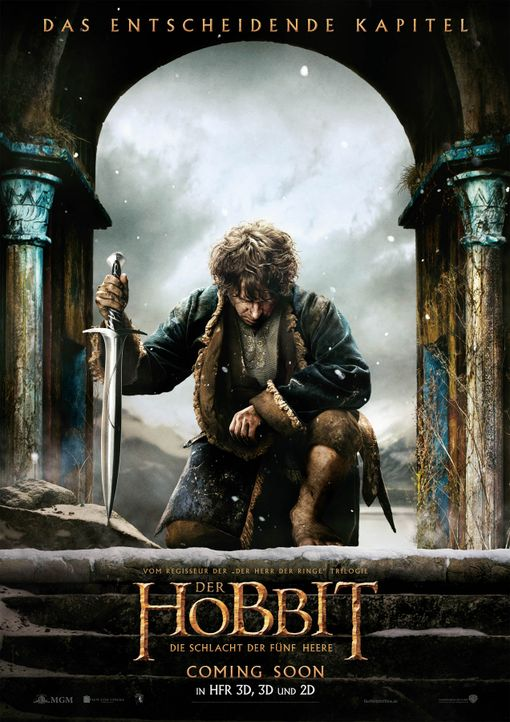 Der-Hobbit-Schlacht-der-fuenf-Heere-Plakat-WARNER-BROS-ENT-METRO-GOLDWYN-MAYER-PICTURES-INC - Bildquelle: 2014 WARNER BROS. ENTERTAINMENT INC. AND METRO-GOLDWYN-MAYER PICTURES INC.
