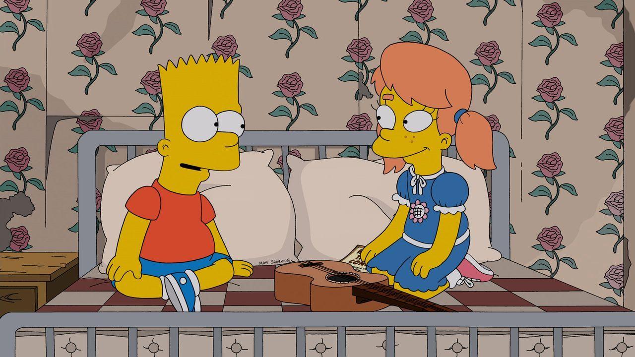Als Mary Spuckler (r.) nach Springfield zurückkehrt, erwachen bei Bart (l.) wieder Gefühle für sie. Doch haben die beiden eine Chance auf eine gemei... - Bildquelle: und TM Twentieth Century Fox Film Corporation - Alle Rechte vorbehalten