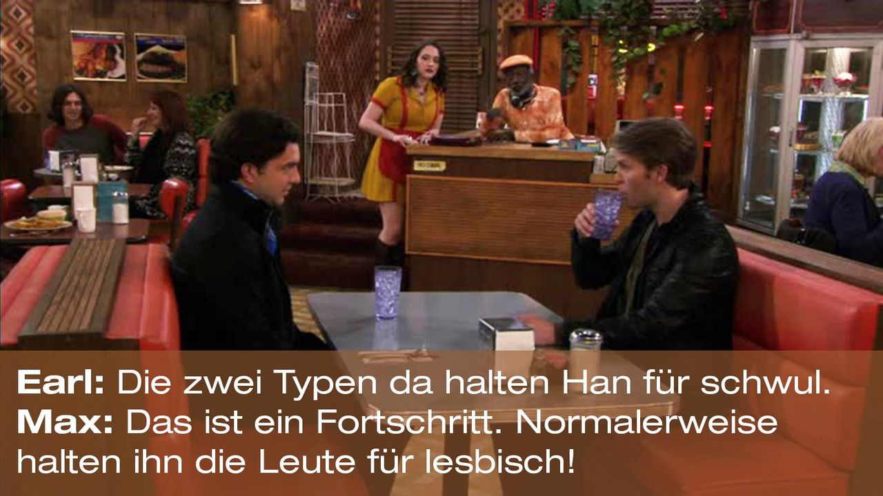 2-broke-girls-zitat-staffel1-episode-19-spring-break-earl-max-lesbisch-warnerpng 1600 x 900 - Bildquelle: Warner Brothers Entertainment Inc.