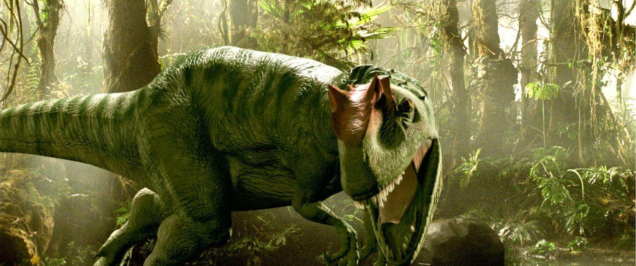 """2055: Für reiche Abenteurer bietet die Firma """"Time Safari Inc."""" einen ganz besonderen Nervenkitzel: prähistorische Dinosaurier-Jagden. Damit jedoc... - Bildquelle: ApolloMedia"""