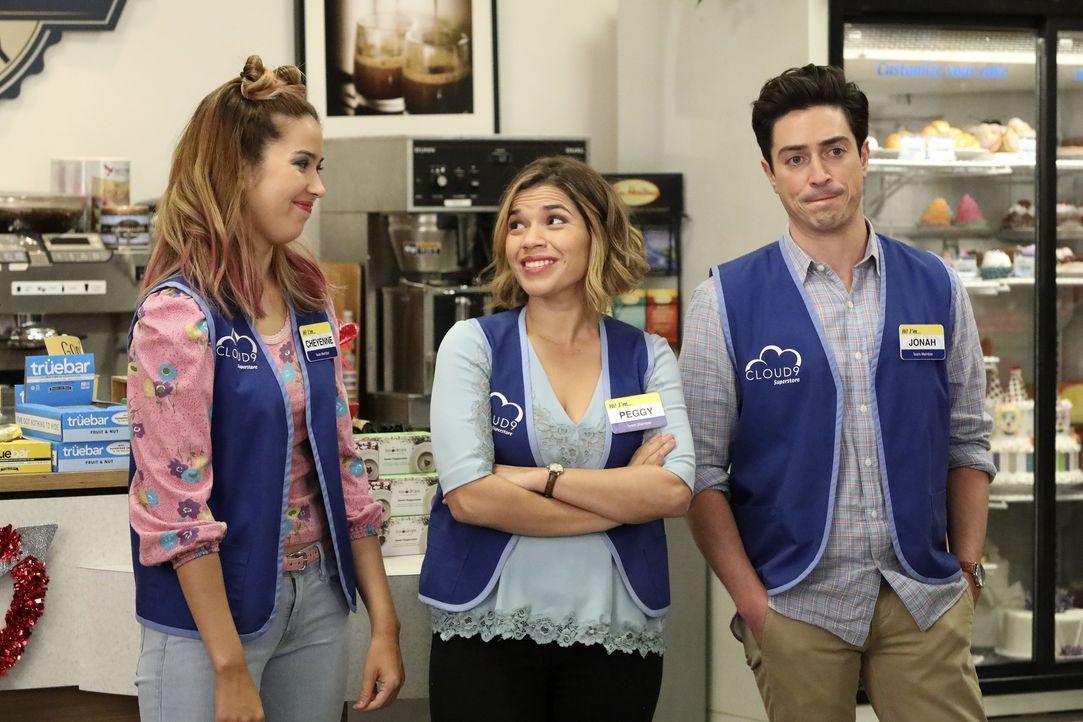 (v.l.n.r.) Cheyenne (Nichole Bloom); Amy (America Ferrera); Jonah (Ben Feldman) - Bildquelle: Evans Vestal Ward 2016 Universal Television LLC. ALL RIGHTS RESERVED. / Evans Vestal Ward