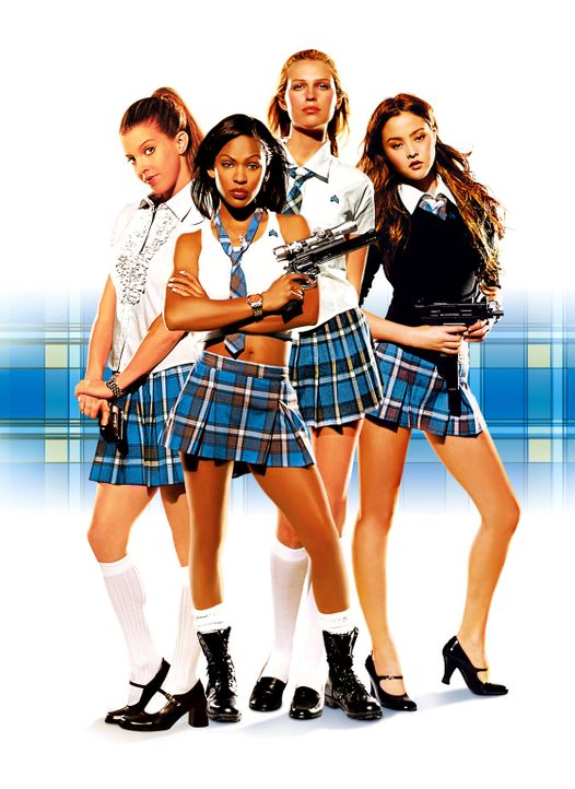 Amy (Sara Foster, 2.v.r.), Max (Meagan Good, 2.v.l.), Dominique (Devon Aoki, r.) und Janet (Jill Richie, l.) werden in einem verdeckten Regierungsau... - Bildquelle: Copyright   2005 Screen Gems, Inc. All Rights Reserved.