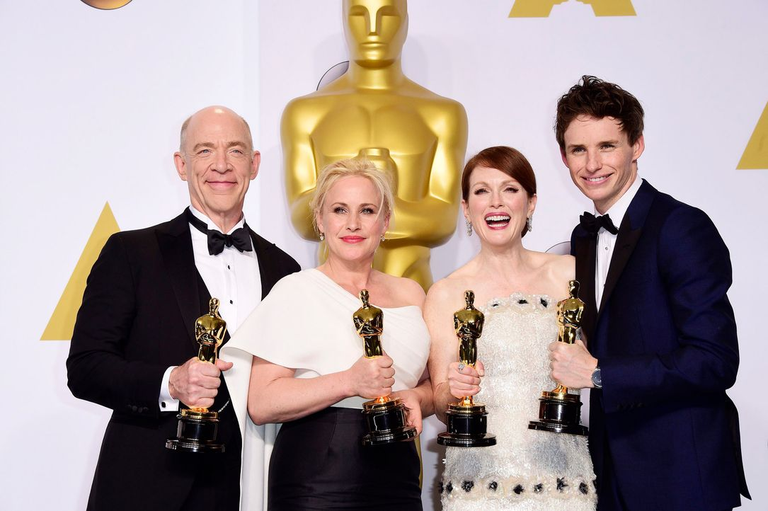 Oscars-J-K-Simmons-Patricia-Arquette-Julianna-MooreEddie-Redmayne-15-02-22-dpa - Bildquelle: dpa