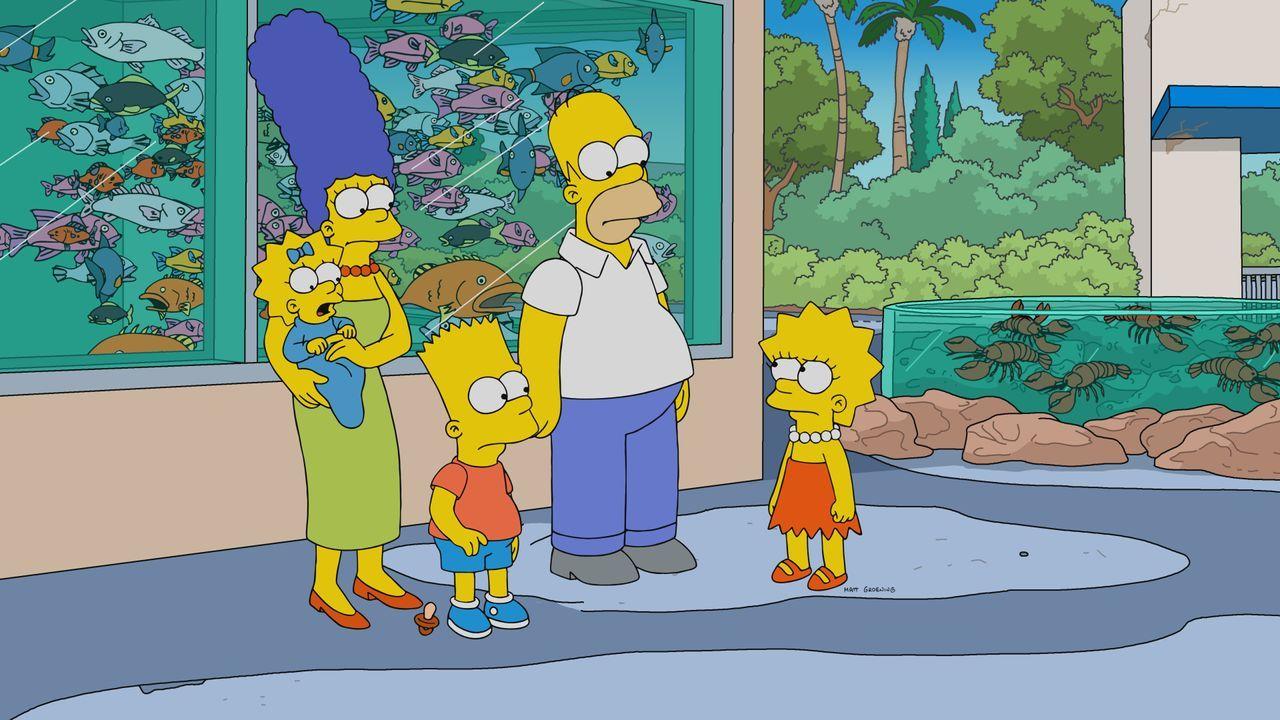 (v.l.n.r.) Maggie; Marge; Bart; Homer; Lisa - Bildquelle: 2019-2020 Twentieth Century Fox Film Corporation.  All rights reserved.