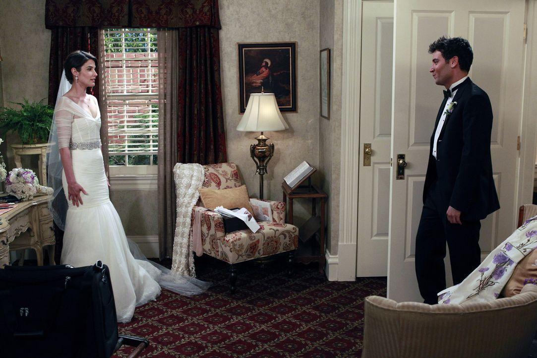 Ist es nun endlich raus, dass Robin (Cobie Smulders, l.) die Frau in Teds (Josh Radnor, r.) Leben ist? - Bildquelle: 20th Century Fox International Television