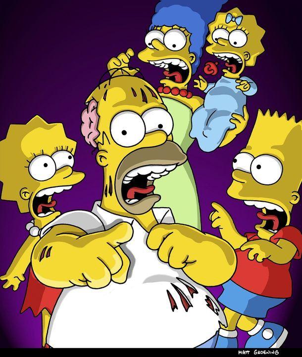 Abrakadabra! Wie jedes Jahr zu Halloween passieren merkwürdige Dinge in Springfield. Da kann es schon mal vorkommen, dass auf Homer (2.v.l.) ein Flu... - Bildquelle: und TM Twenthieth Century Fox Film Corporation - Alle Rechte vorbehalten