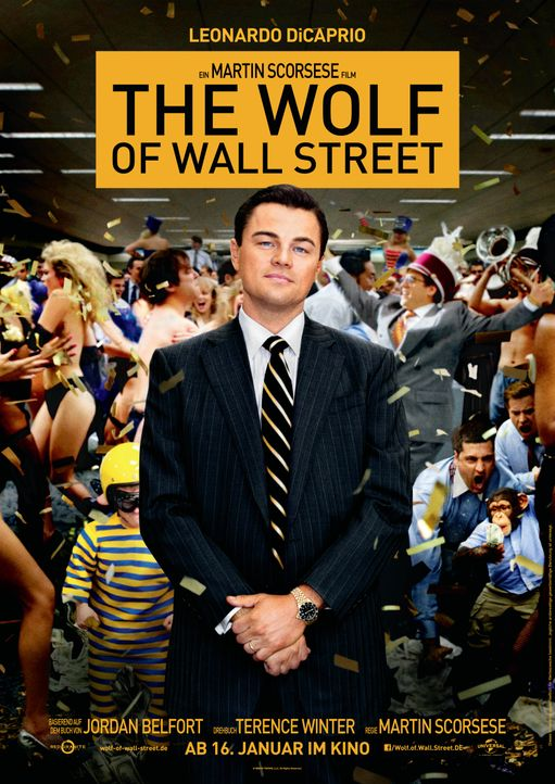 Plakat Wolf of Wall Street - Bildquelle: Universal Film