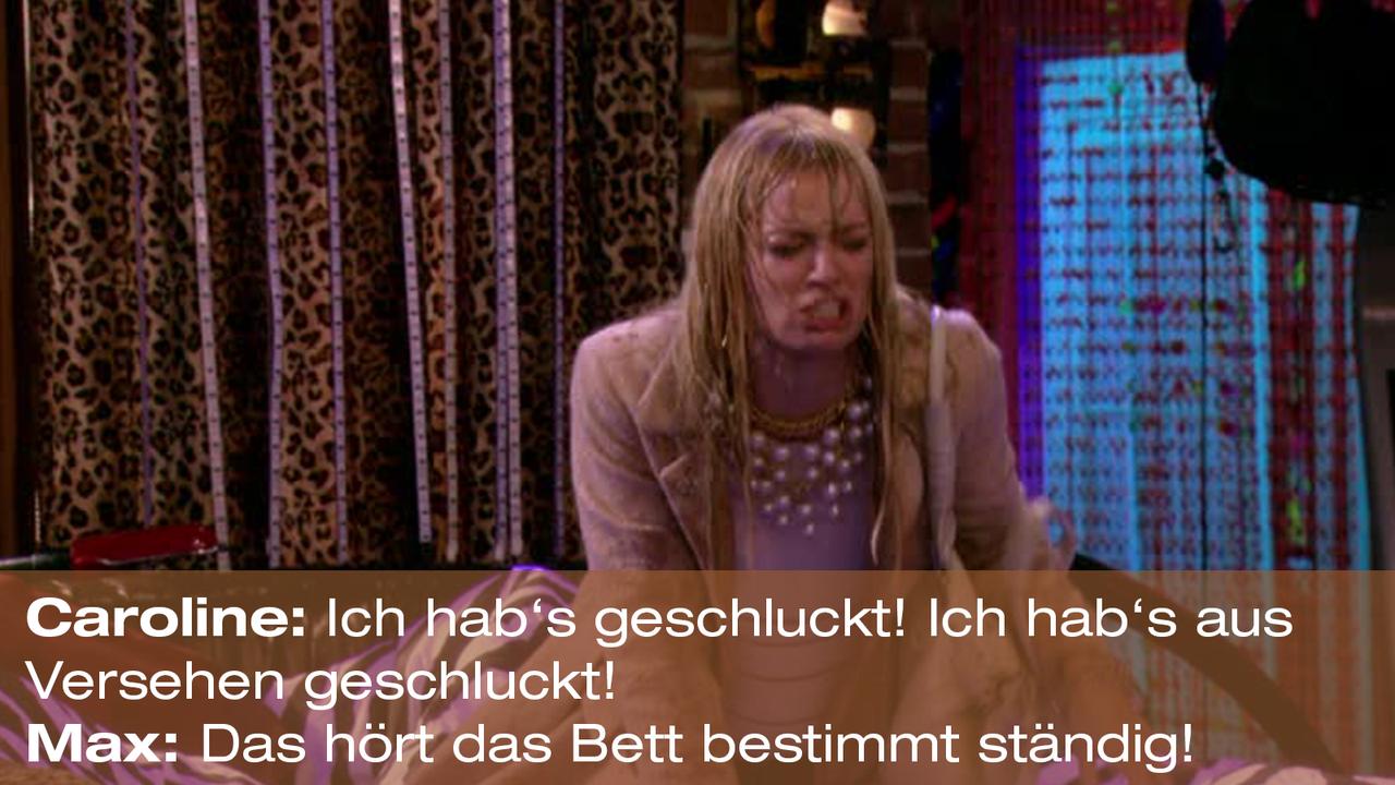2-Broke-Girls-Zitat-Quote-Staffel2-Episode20-Das-Loch-in-der-Decke-Max-Bett2-Warner - Bildquelle: Warner Bros. Television
